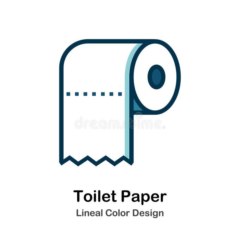 Toilettenpapier-direkte Farbikone stock abbildung