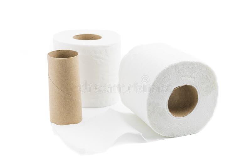 Toilettenpapier getrennt lizenzfreies stockfoto