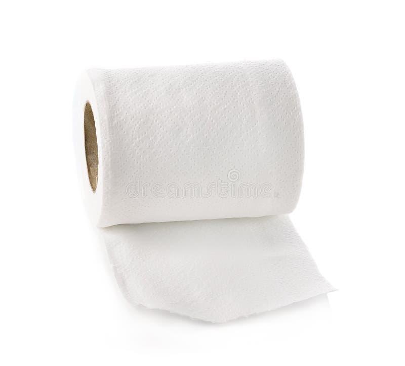 Toilettenpapier getrennt auf weißem Hintergrund stockfoto