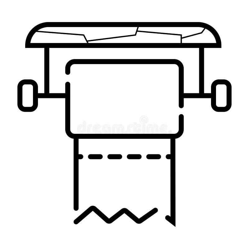 Toilettenpapier-Ikonenvektor stock abbildung