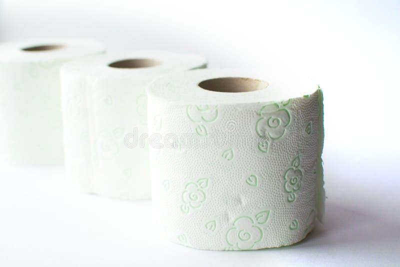 Toilettenpapier Rolls stockbild