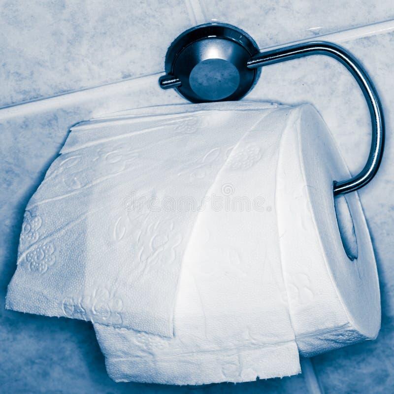 Toilettenpapier und Gestell stockbild