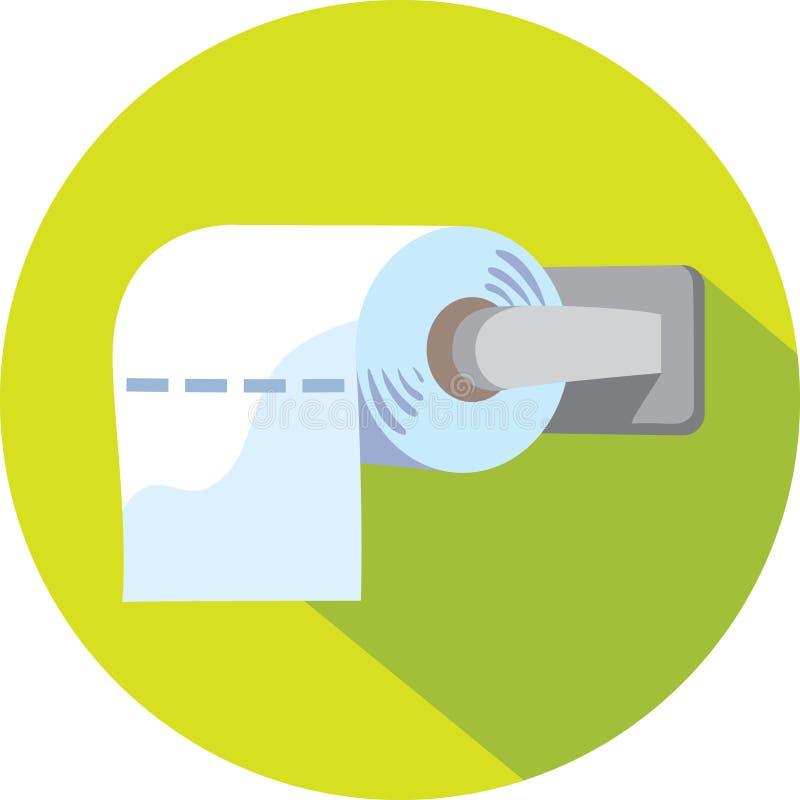 Toilettenpapierikone lizenzfreie abbildung