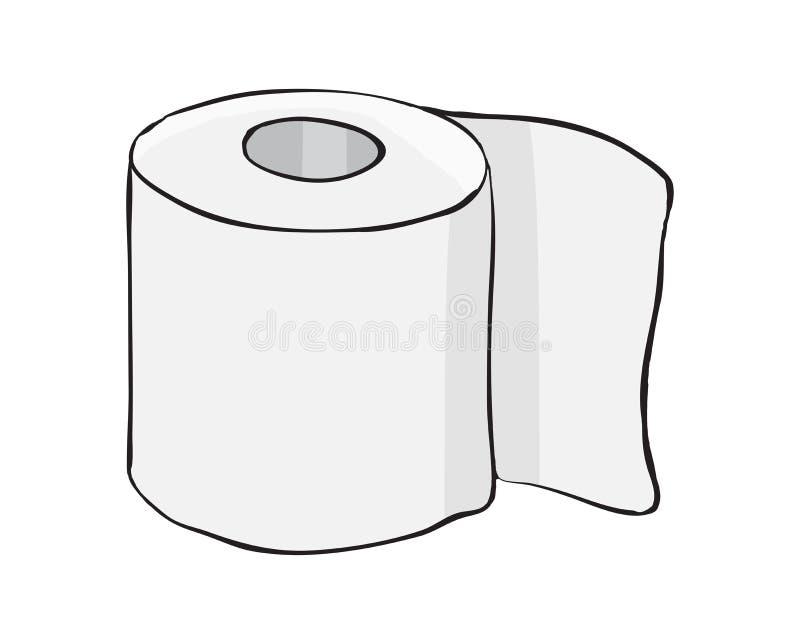 Toilettenpapierrollenvektorsymbol-Ikonendesign Schönes illustrat stock abbildung
