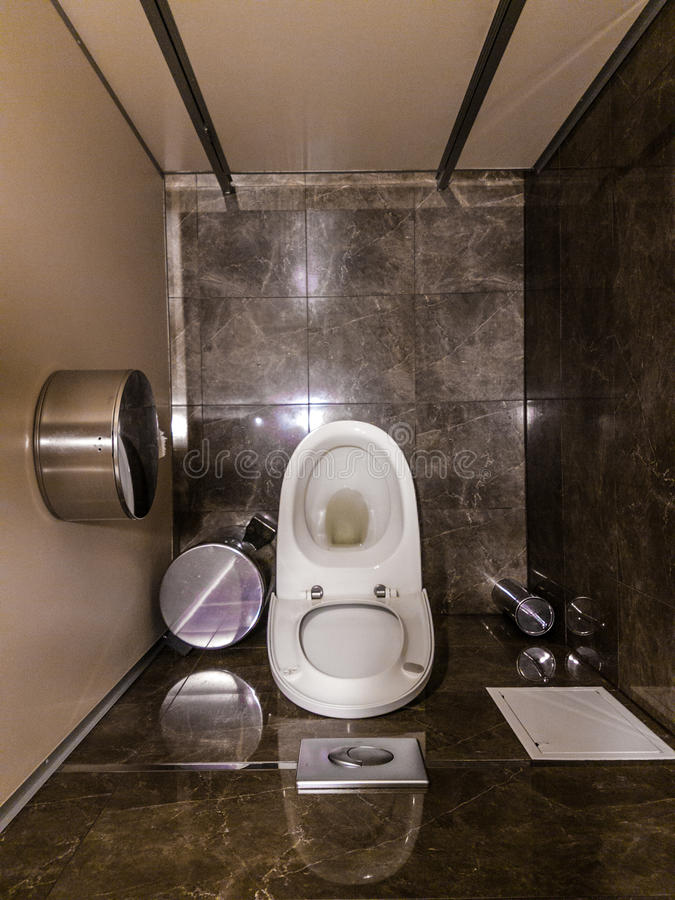 Toilettenplan stockbilder
