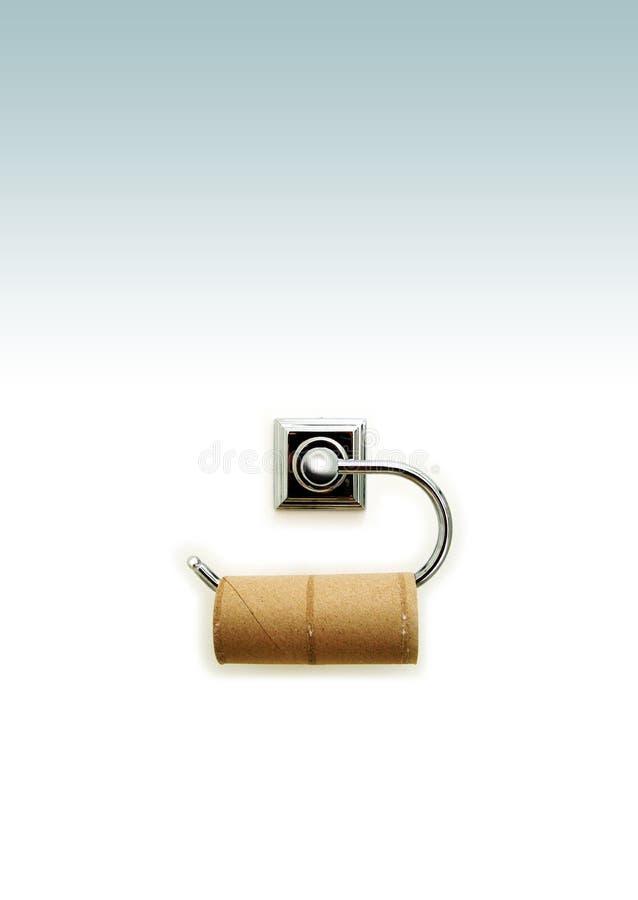 Toilettenrolle stockfoto