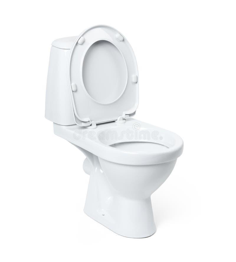 Toilettenschüssel getrennt auf weißem Hintergrund Datei enthält einen Pfad zur Lokalisierung stockfotos
