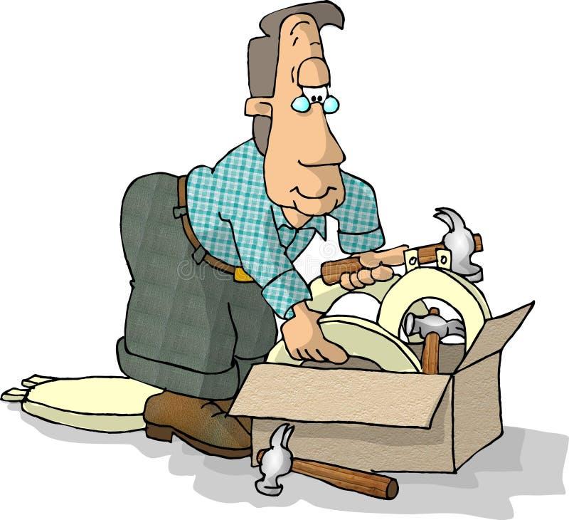 Download Toilettensitze und -hammer stock abbildung. Illustration von check - 45389