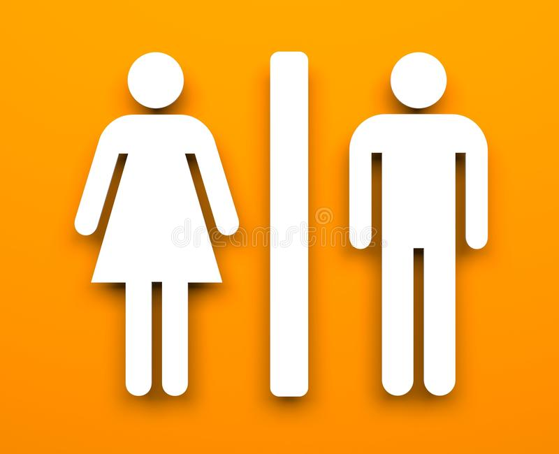 Toilettensymbole lizenzfreie abbildung