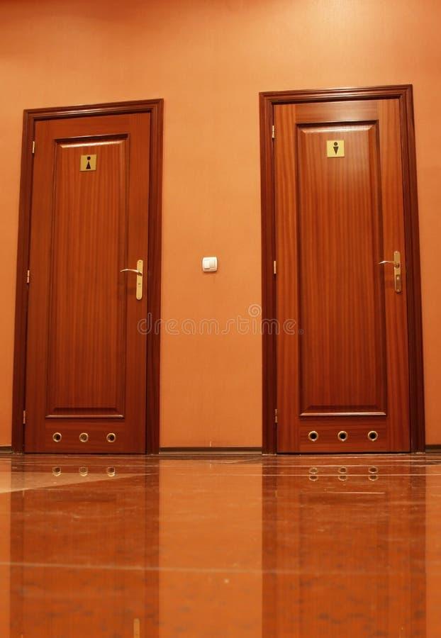 Toilettentüren Stockfoto
