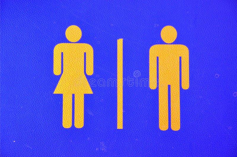Toilettenzeichen auf Leder lizenzfreie abbildung