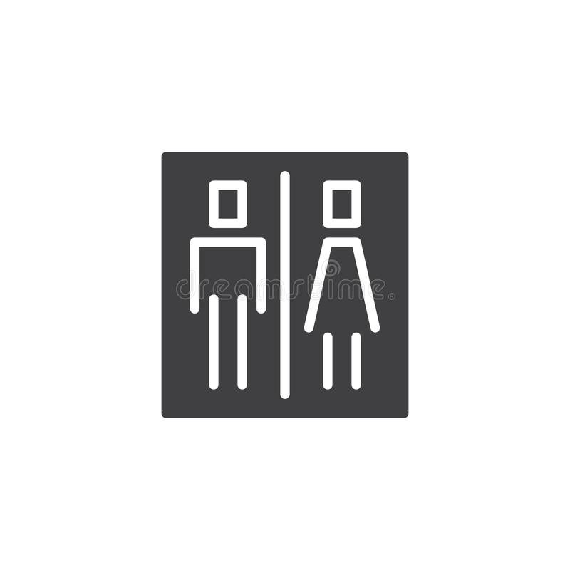 Toilettenzeichen-Vektorikone vektor abbildung
