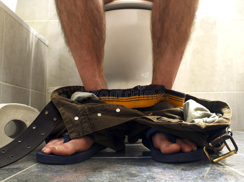 Toilettenzeit stockfotografie