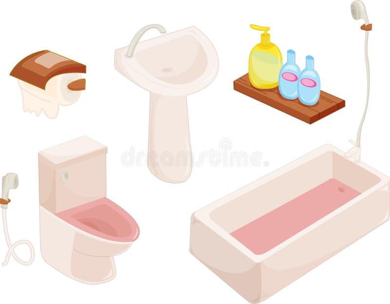 toilettes illustration de vecteur