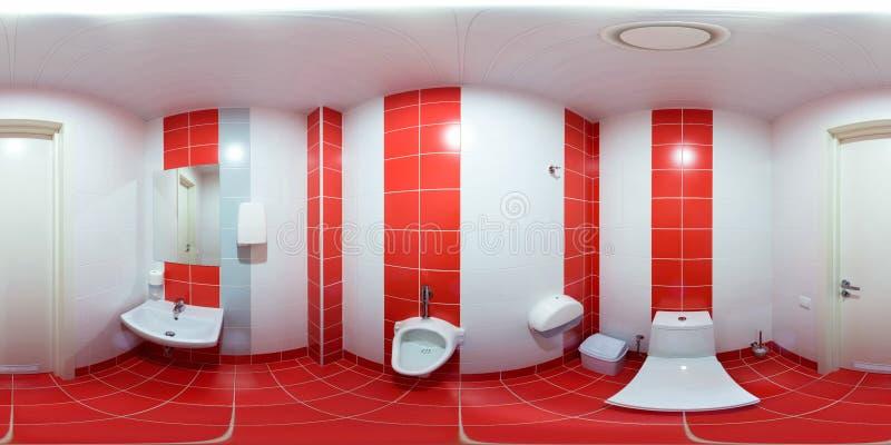 Toilettes avec la toilette et le lavabo images stock