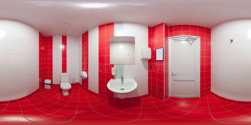 Toilettes avec la toilette et le lavabo photo stock