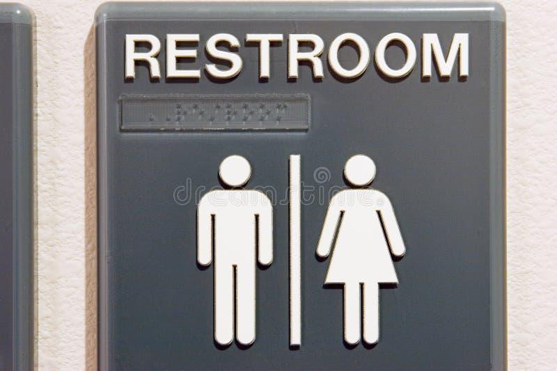 Toilettes unisexes photo libre de droits