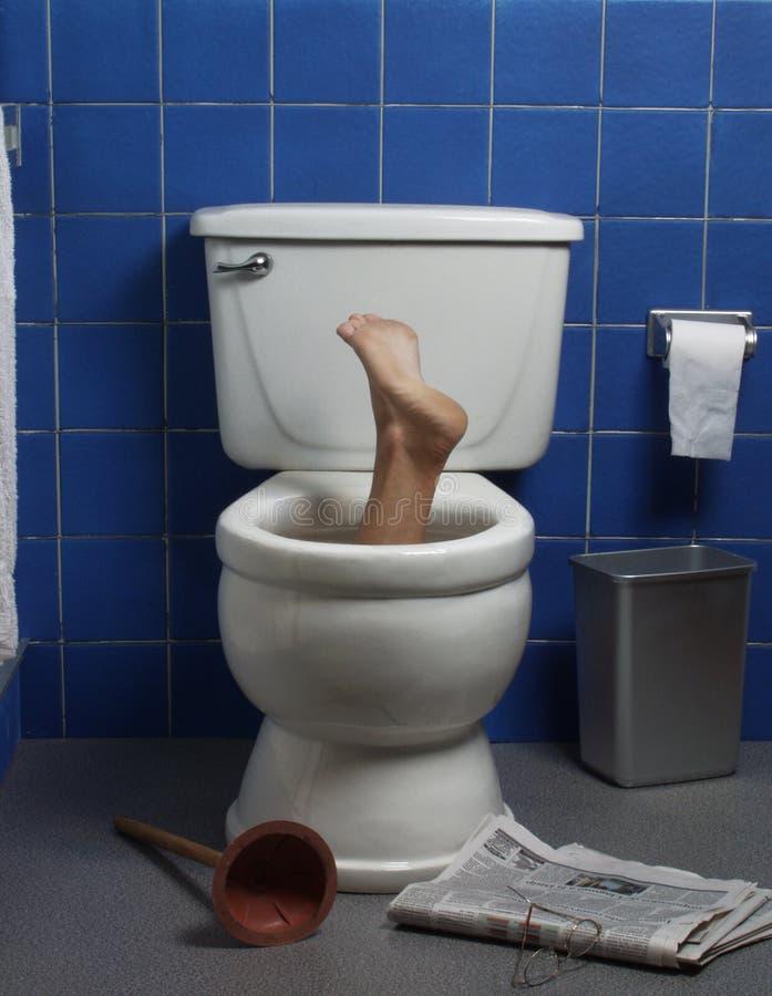 Toillet desesperado da casa. fotografia de stock