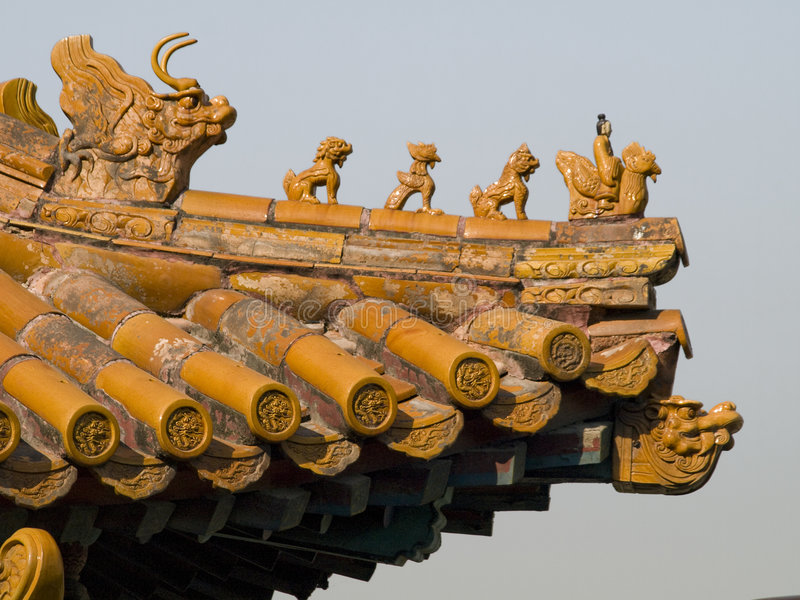 Toit chinois photo libre de droits