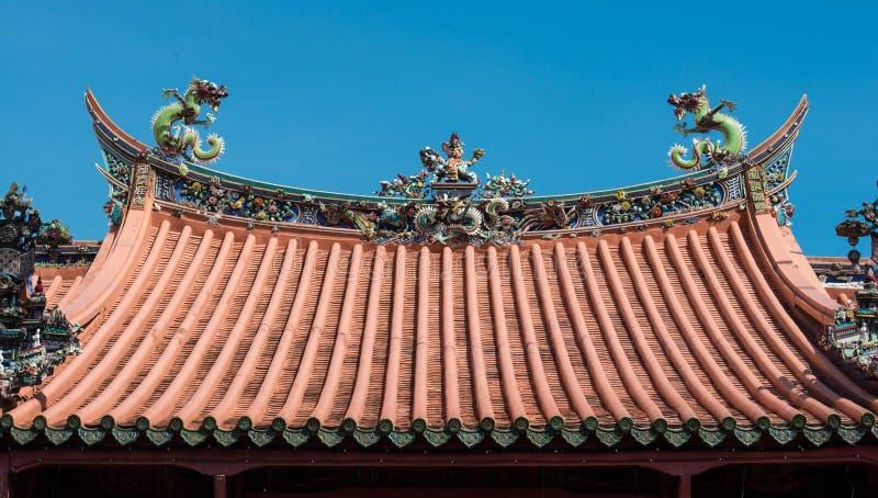 Toit chinois de temple photo stock