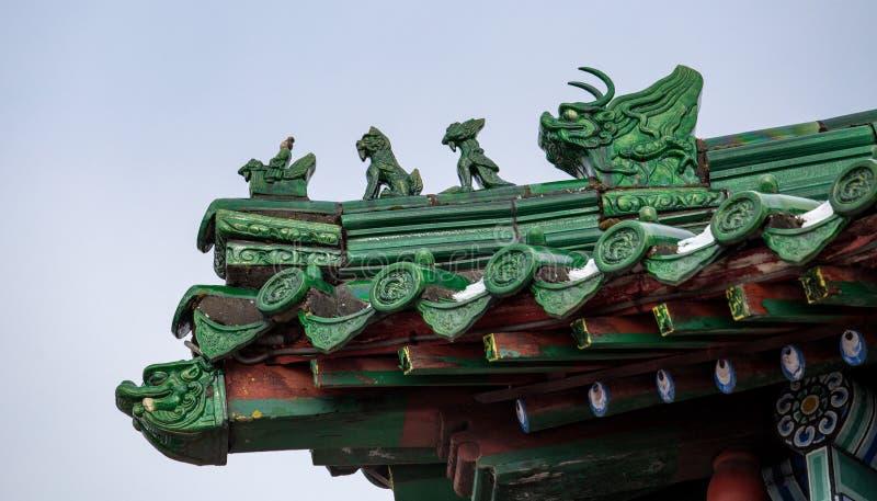 Toit chinois, fragment photo stock