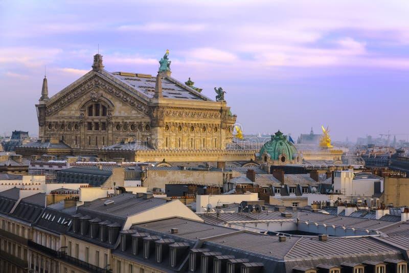 Toit d'opéra Garnier photo stock