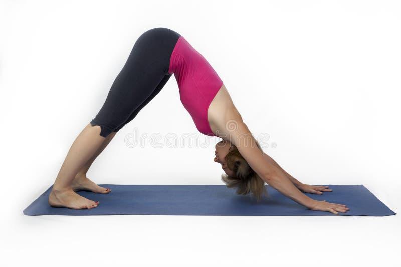 Toit dans le yoga image libre de droits