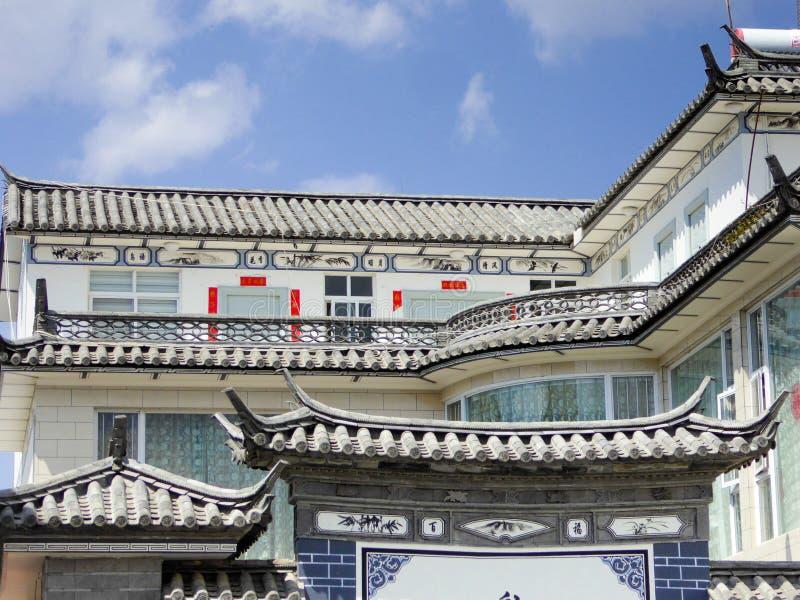 Toit de bâtiments de XiZhou photographie stock libre de droits