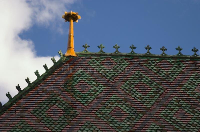 Download Toit de cathédrale photo stock. Image du munster, fleuri - 740180
