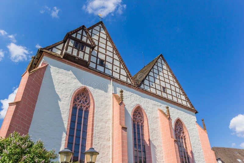 Toit de l'église de monastère de Blomberg images libres de droits