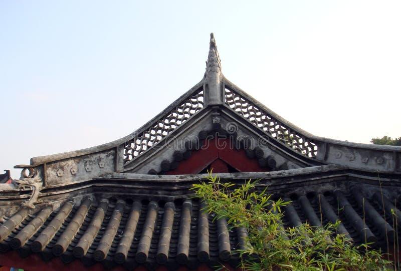 Toit de la construction chinoise photographie stock