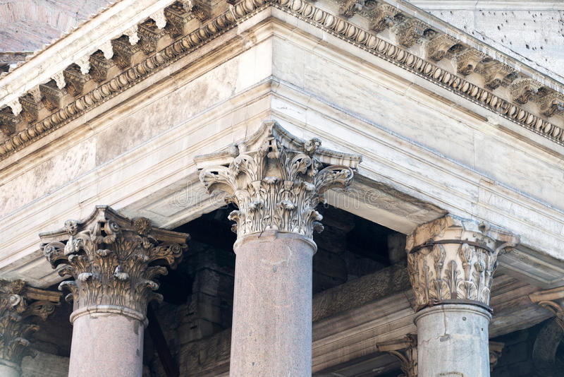 Toit de Panthéon à Rome photo stock