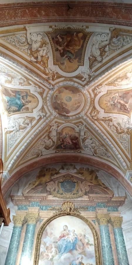 Toit de St Marys de basilique des anges et des martyres photo stock
