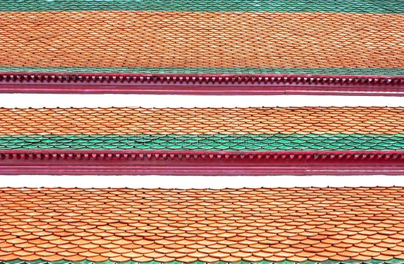 Toit de Wat Phra Kaew images stock