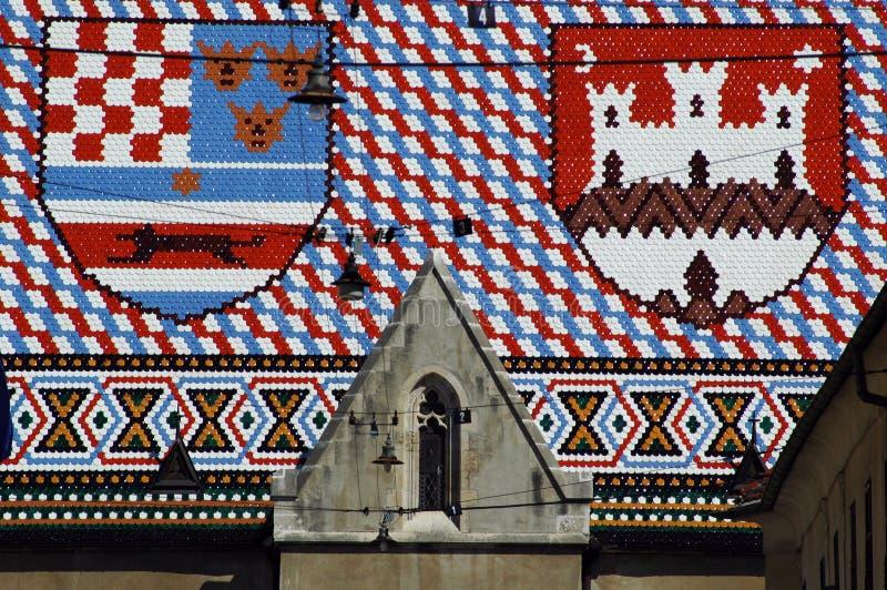 Toit de Zagreb photos stock