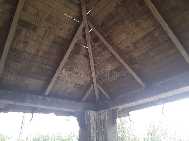 Toit en bois photo stock