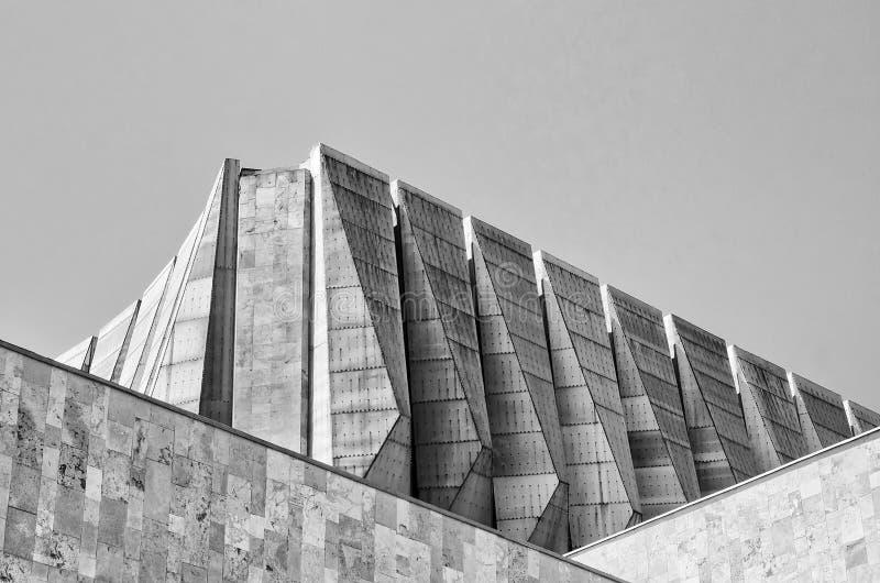 Toit géométrique d'Odessa Theater de comédie musicale photographie stock libre de droits