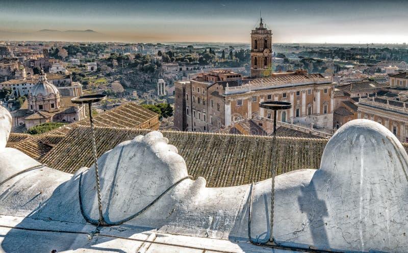 toits antiques de Rome image stock
