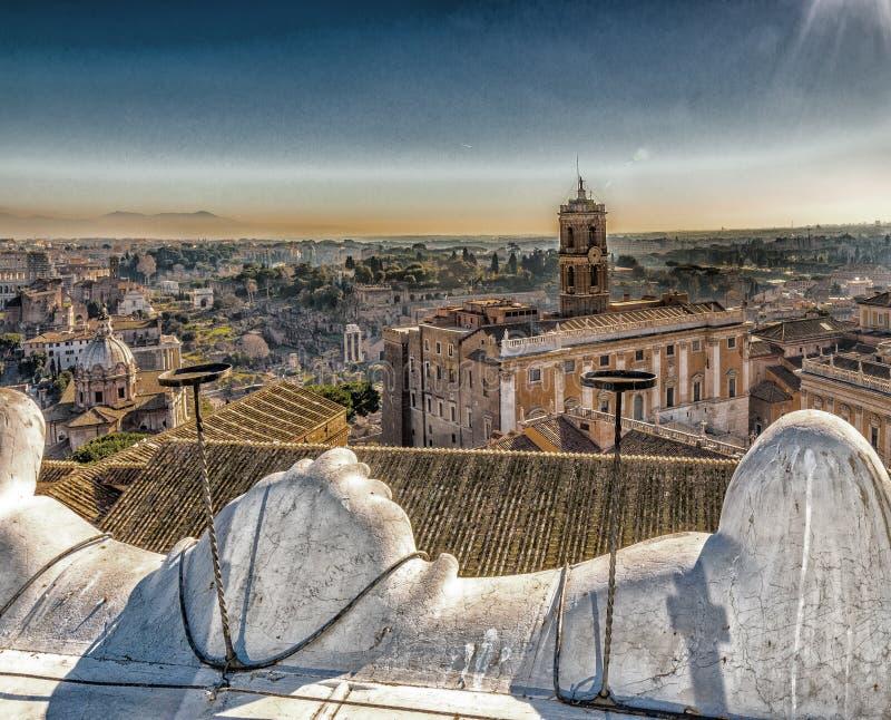 toits antiques de Rome image libre de droits
