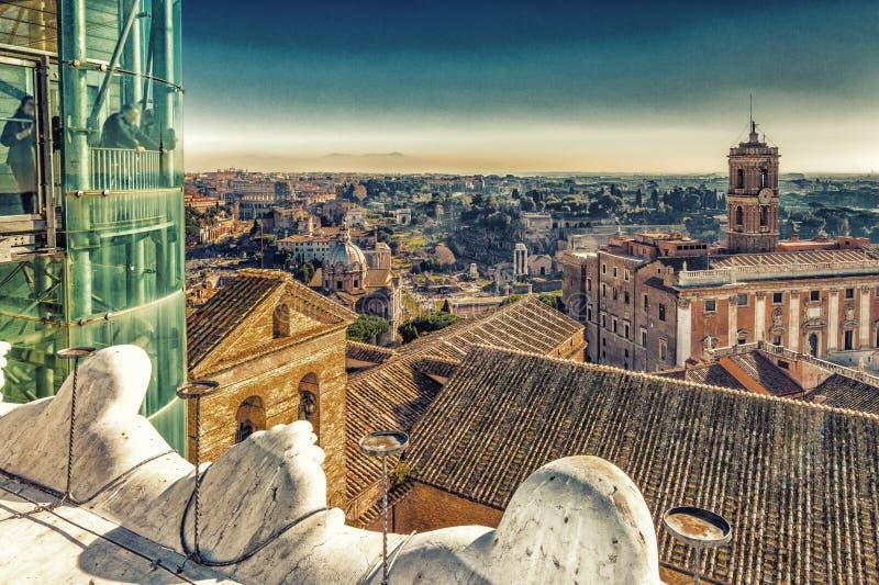 toits antiques de Rome images libres de droits