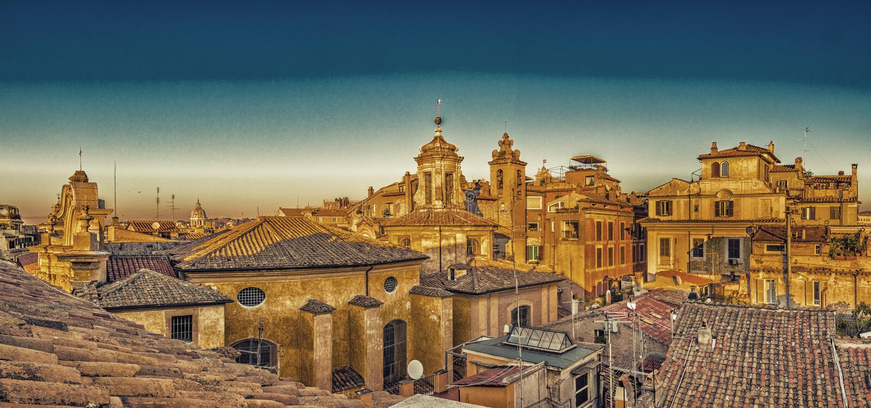 toits antiques de Rome photographie stock libre de droits