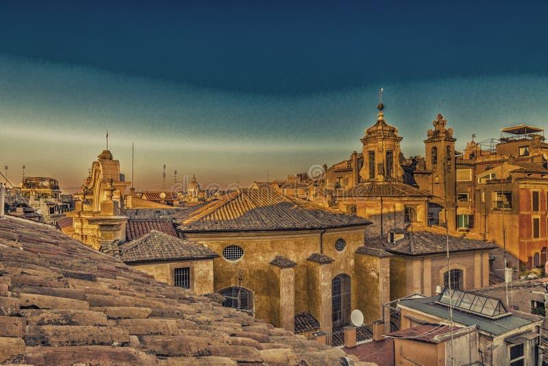 toits antiques de Rome photo stock