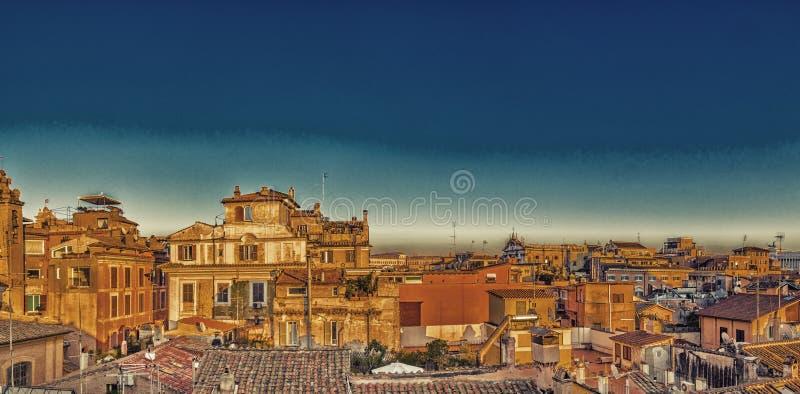 toits antiques de Rome photo libre de droits