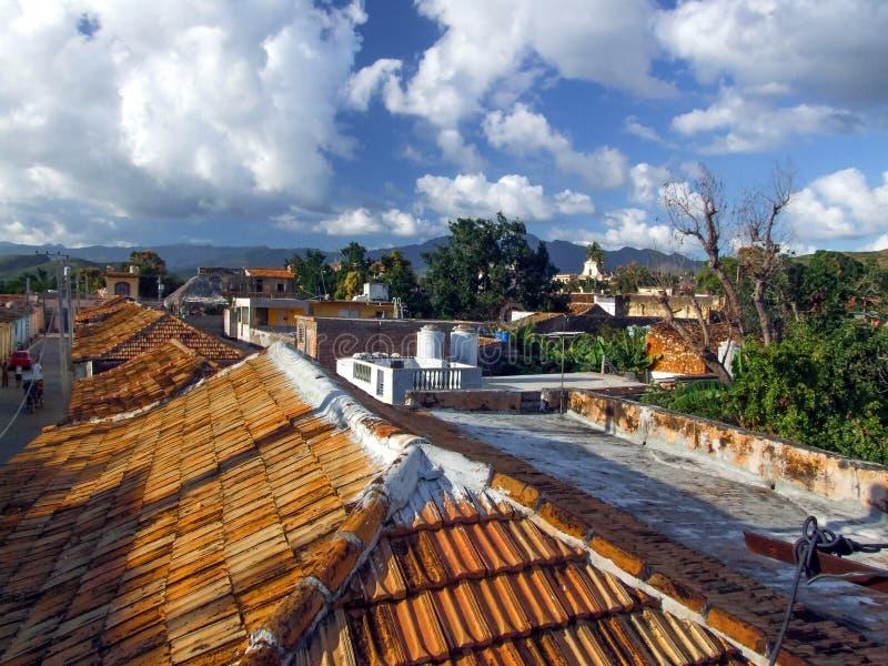 Toits au Trinidad image libre de droits