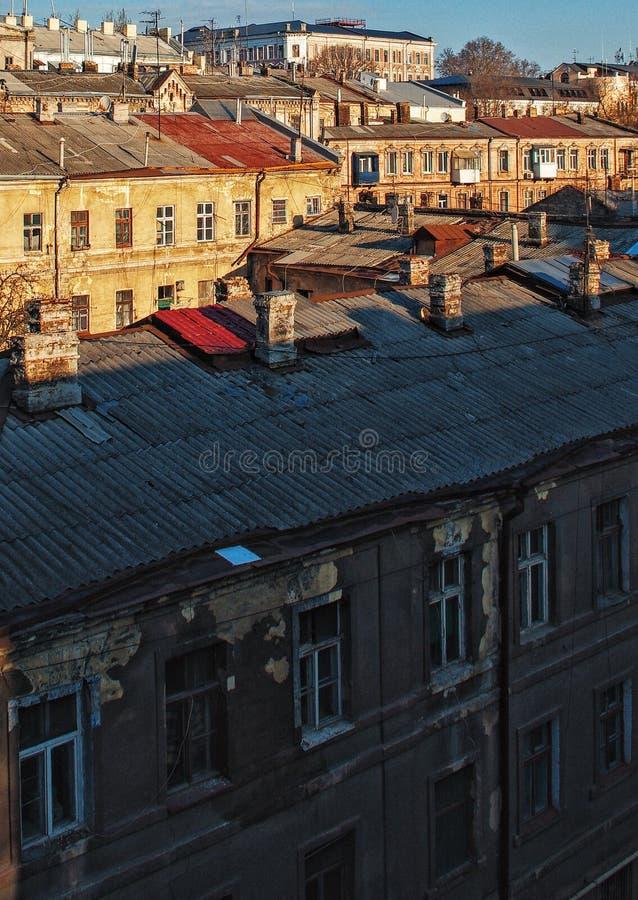 Toits d'Odessa photographie stock libre de droits