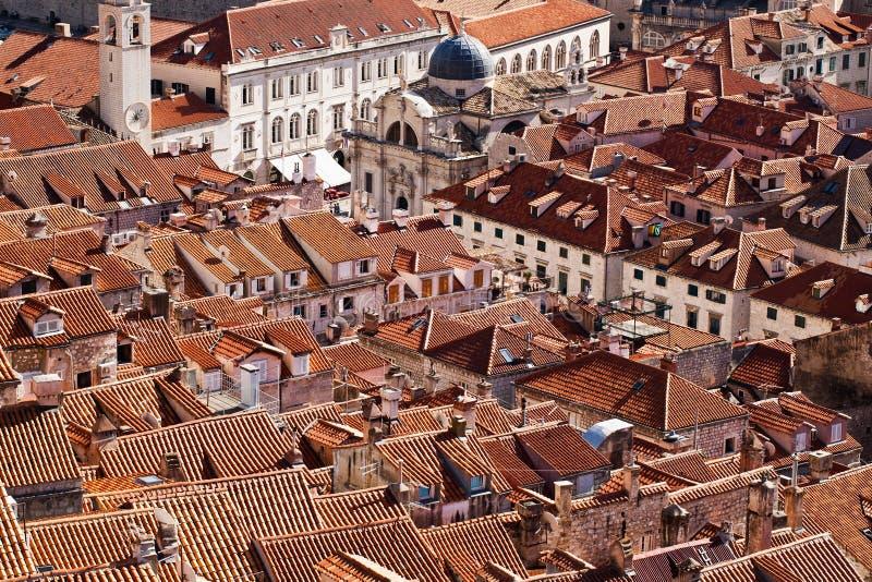 Toits de Dubrovnik images libres de droits