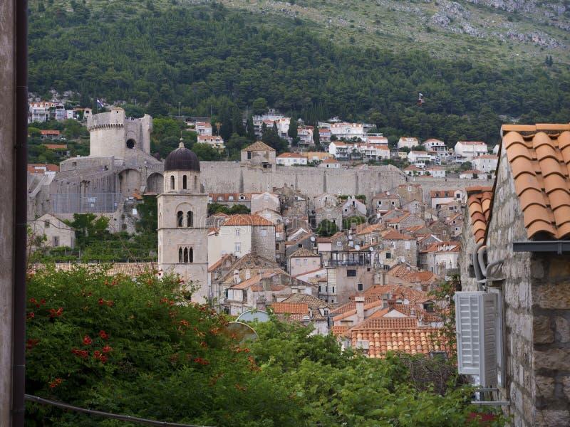 Toits de Dubrovnik photographie stock
