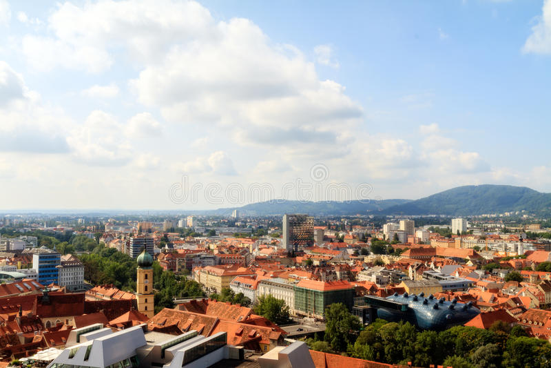 Toits de Graz photos libres de droits