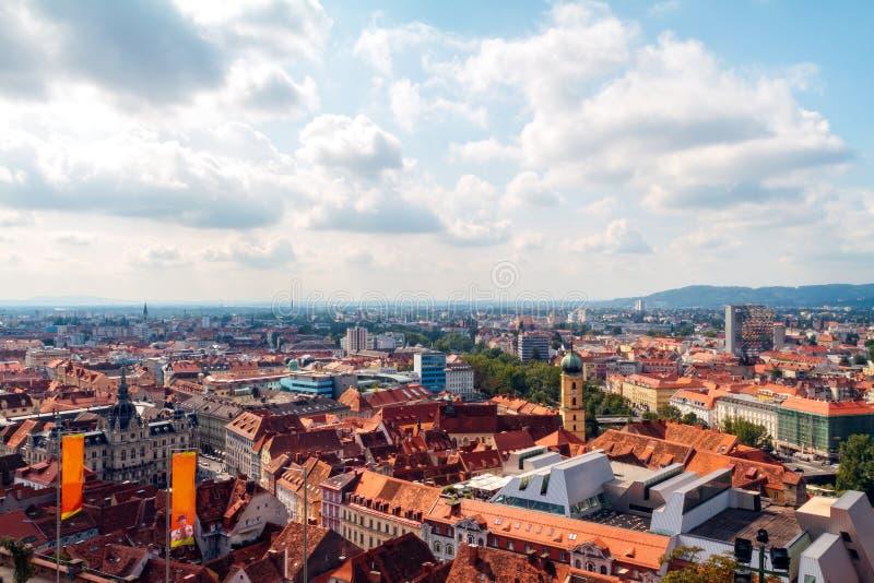 Toits de Graz image libre de droits