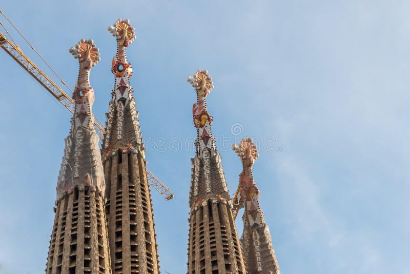 Toits de Sagrada Famillia photos libres de droits